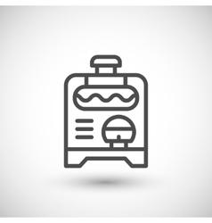 Electric generator line icon vector image