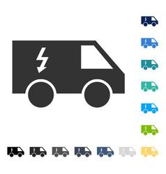 Electrical car icon vector