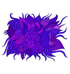 fantastic colorful decorative flower purpule vector image
