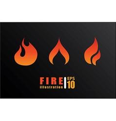Fire design over black background vector