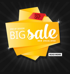 Flat sale banner template design vector