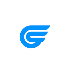 g-wing-logo vector image