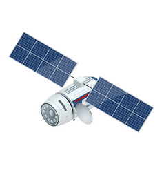 Gps satellite flat 3d isometric vector