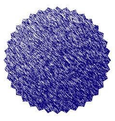 Grunge textured filled rosette seal vector