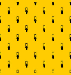 Hand photographs on smartphone pattern vector