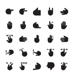 hand signs glyph icon vector image