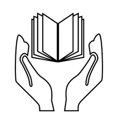 hands human with book vector image