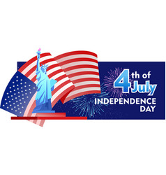 independence day america vector image