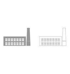 industrial building factory the grey set icon vector image