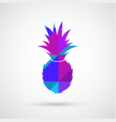 juicy fresh pineapple vector image