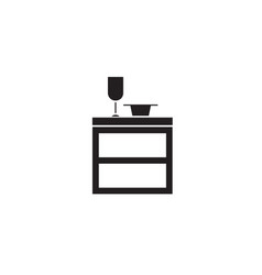 kitchen cupboard black concept icon vector image