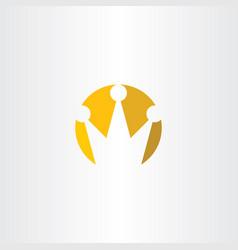 logo crown yellow sign symbol vector image