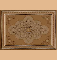 Luxury carpet in brown and beige shades vector
