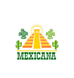 mexican food isolated icon of national restaurant vector image