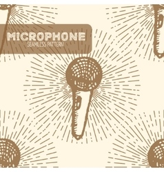 Microphone Vintage style vector image