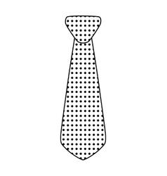 necktie icon Suit male part design vector image