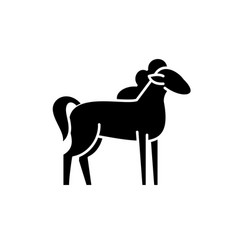 pony black icon sign on isolated vector image