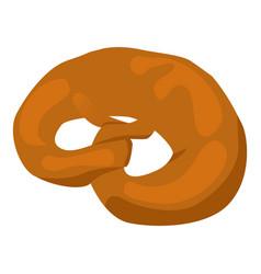 Pretzel bakery icon isometric style vector
