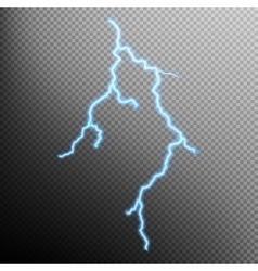 Realistic lightning with transparency EPS 10 vector image