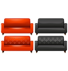 Red and black sofa vector image