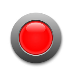red circle button template for your design vector image