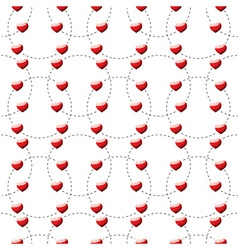 Red heart dotted vector image