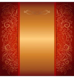 red royal invitation card vector image