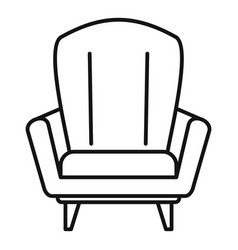 Relax armchair icon outline style vector
