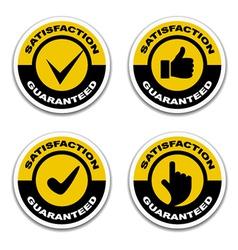 Satisfaction guaranteed stickers vector