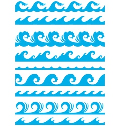 Seamless ocean wave set vector