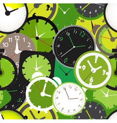 Seamless pattern of different clocks vector image