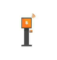 self service payments terminal online payment vector image