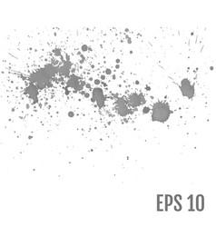 set of gray splash on white background all vector image