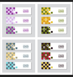 Set of minimal covers design colorful halftone vector
