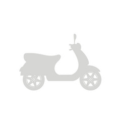 Silhouette of scooter in grey design vector