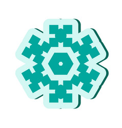simple snowflake icon isolated on white background vector image