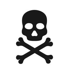 skull icon icon death black crossbones vector image