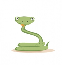 Snake isolated vector