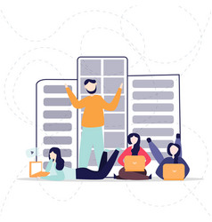 social network web site surfing concept vector image