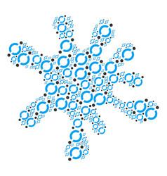 splash shape of node link icons vector image