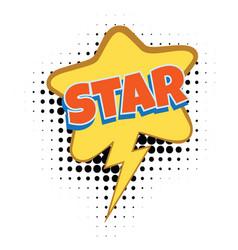 Star comic word vector