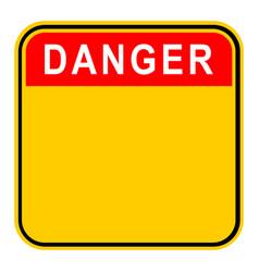 Sticker danger safety sign vector