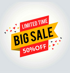 super sale and special offer 50 off vector image