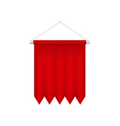 vertical red pennant template blank 3d flag vector image