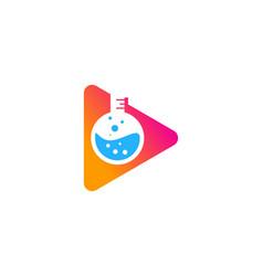 Video science lab logo icon design vector
