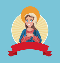 virgin mary religious sac image vector image