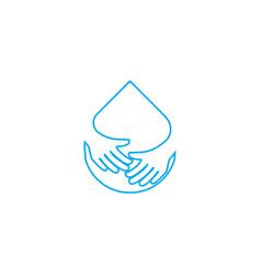 Water care logo vector