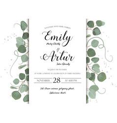 Wedding floral hand drawn invite invitation card vector