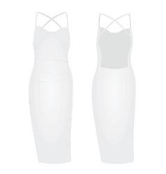 White woman dress vector