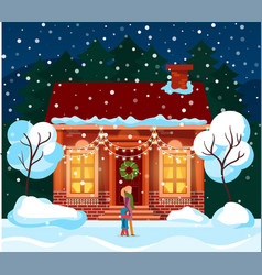 winter christmas celebration vector image
